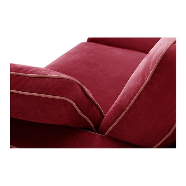 Trojmiestna pohovka Jalouse Maison Serena, červená