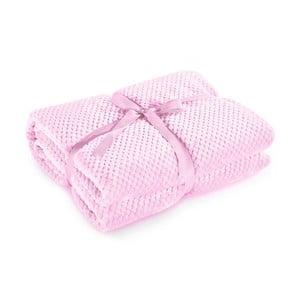 Pudrově růžová deka z mikrovlákna DecoKing Henry, 170x210cm