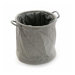 Okrúhly vlnený kôš na bielizeň Grey
