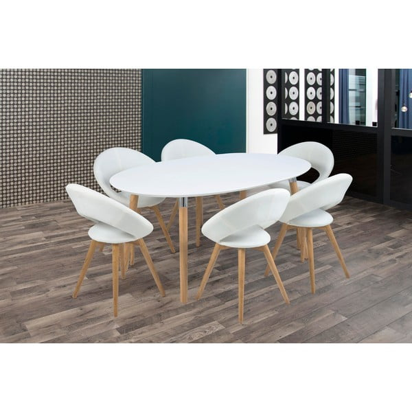 Biela jedálenská stolička Actona Plump