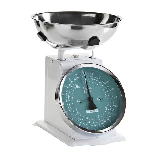 Kuchynská váha White Retro, modrý ciferník