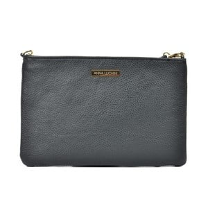 Čierna kožená kabelka Anna Luchini Kate
