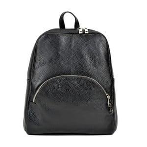 Čierny kožený batoh Renata Corsi Durmello