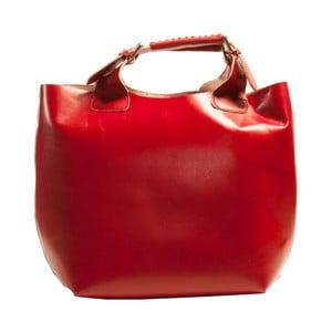 Červená kabelka z pravej kože Andrea Cardone Edoardo