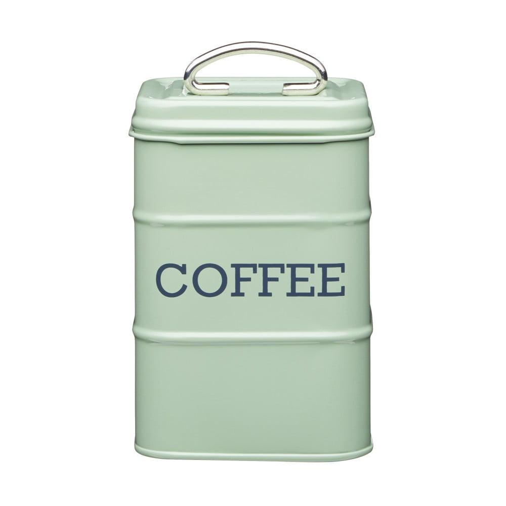 Zelená plechová dóza na kávu Kitchen Craft Nostalgia, výška 17 cm