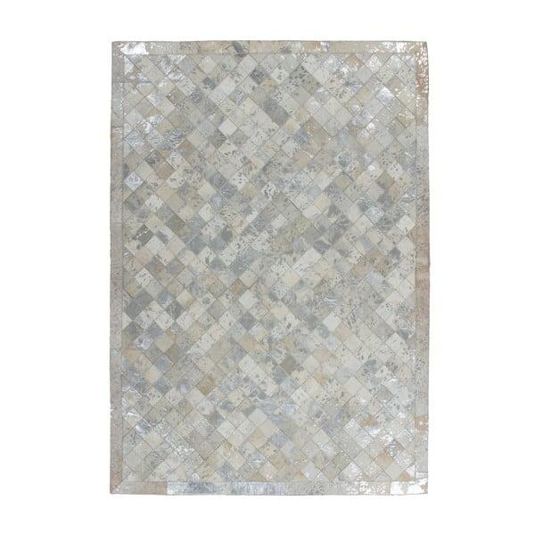 Kožený koberec Eclipse Silver, 80x150 cm