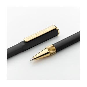 Čierne pero so zlatými detailmi a puzdrom Ted Baker Ballpoint