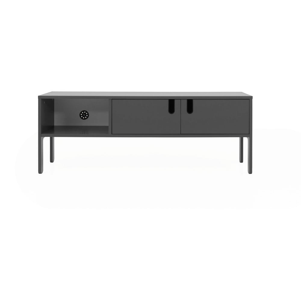 Sivý TV stolík Tenzo Uno, šírka 137 cm