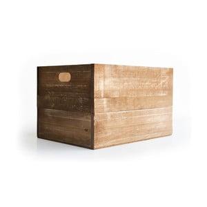 Rustikálna drevená bednička Really Nice Things, hnedá
