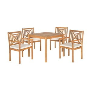 Set záhradného stolíka a stoličiek z agátového dreva Safavieh Riva