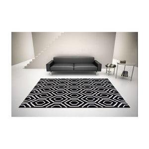 Čierno-biely koberec DECO CARPET Tripoli, 133×190 cm