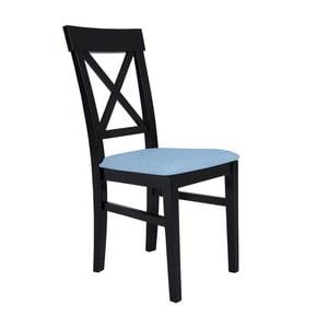 Čierna stolička so svetlomodrým sedadlom BSL Concept Hinn