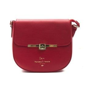 Červená kožená kabelka f.e.v. by Francesca E. Versace Lasta