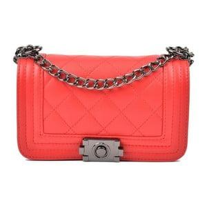 Červené kožené listové kabelky Isabella Rhea Lismo