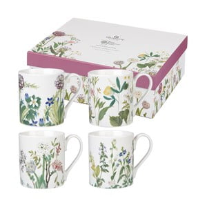 Sada 4 hrnčekov Churchill China Himalyan Flowers, 250 ml