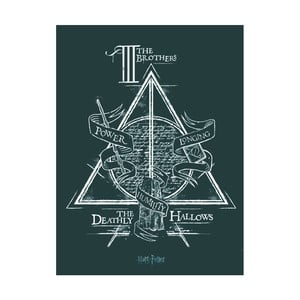 Obraz Pyramid International Harry Potter Deathly Hallows, 60 × 80 cm