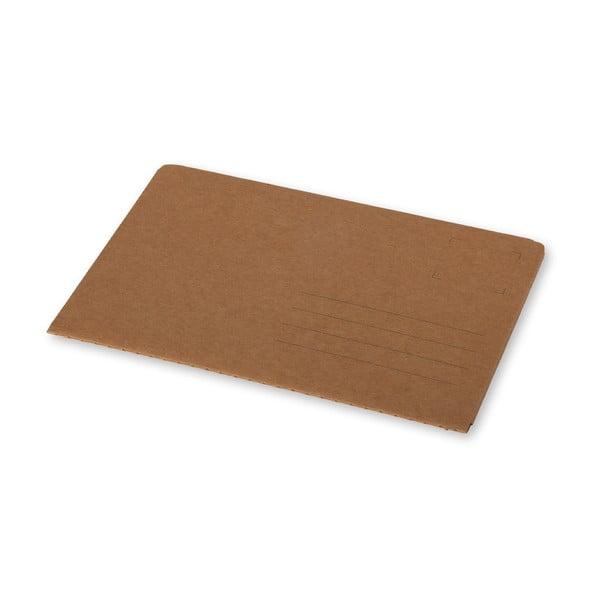 Hnedý zápisník v obálkovej väzbe Moleskine Postal L