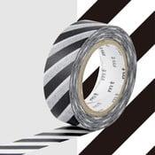 Čierno-biela washi páska MT Masking Tape Stripes