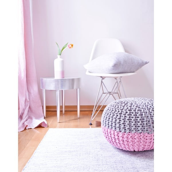 Sivo-ružový sedací puf Hawke&Thorn Parker