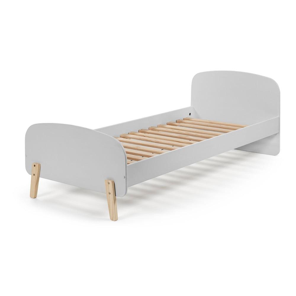 Sivá detská posteľ Vipack Kiddy, 200 x 90 cm