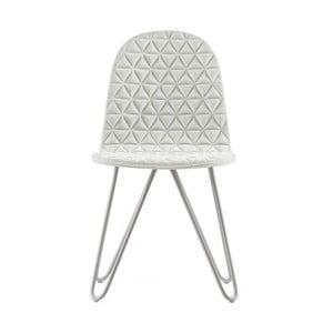 Krémová stolička s kovovými nohami IKER Mannequin X Triangle