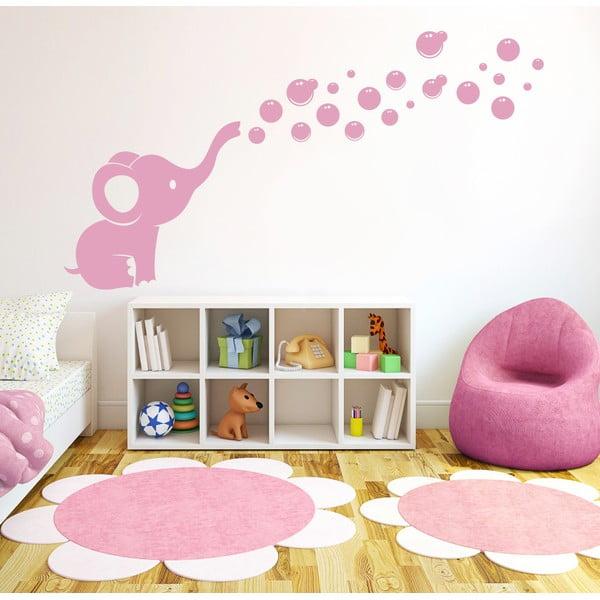 Dekoratívna samolepka na stenu Sloníča a bublinky