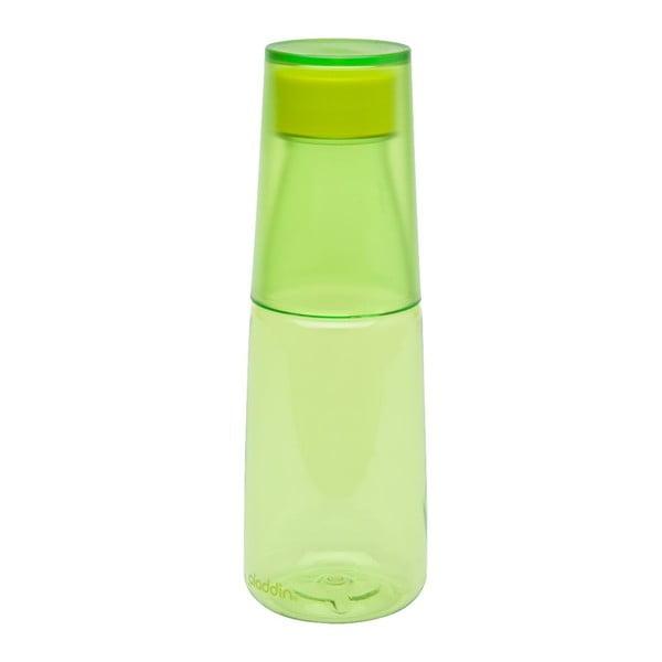 Fľaša na vodu s kalíškom Crave, limetková