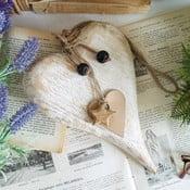 Drevené dekoratívne srdce Orchidea Milano Heart