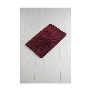 Tmavočervená kúpeľňová predložka Confetti Bathmats Wave Red, 60 x 100 cm