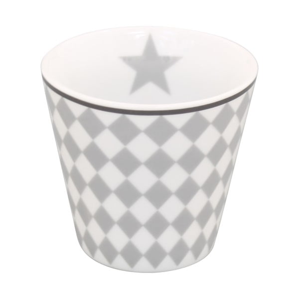 Hrnček na kávu Krasilnikoff Espresso Light Grey Harlekin