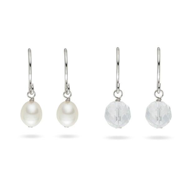 Náušnice Yamato Pearls Sterling Silver Glass