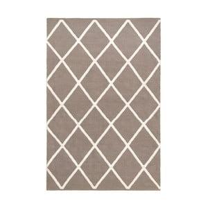 Hnedobéžový obojstranný koberec vhodný aj do exteriéru Green Decore Diamond Duro, 90 × 150 cm