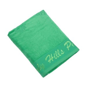 Zelená bavlněná osuška BHCP Velvet, 80x150 cm