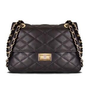 Kožená kabelka Valentina Black