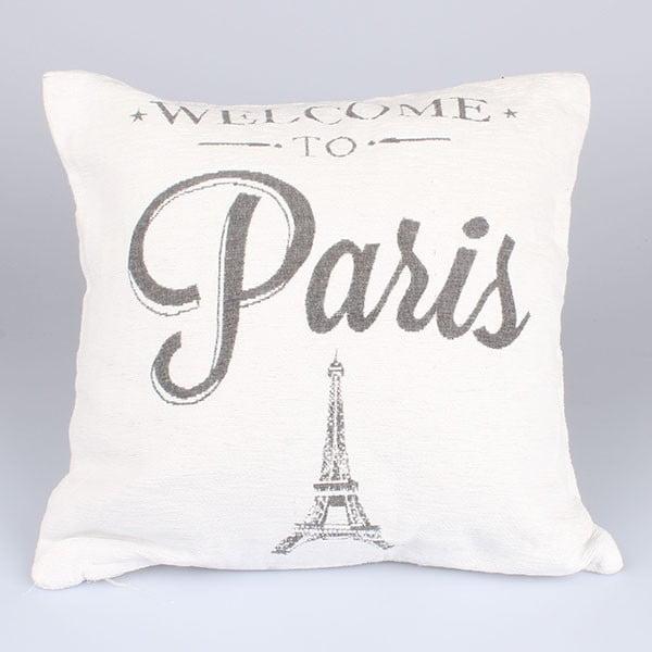 Obliečka na vankúš Paris in White, 40x40 cm