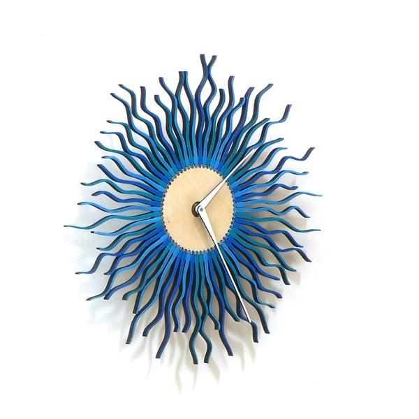 Drevené hodiny Radium modré, 29 cm