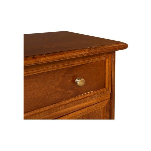 Hnedý nočný stolík Evergreen Houso Timing