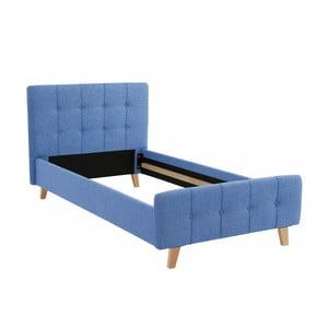 Modrá jednolôžková posteľ Støraa Limbo, 100 x 200 cm