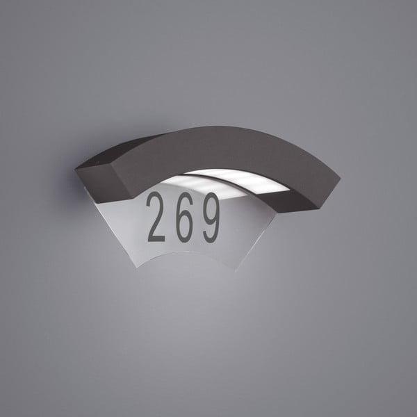 Záhradné nástenné svetlo Moskwa Antracit, 26 cm