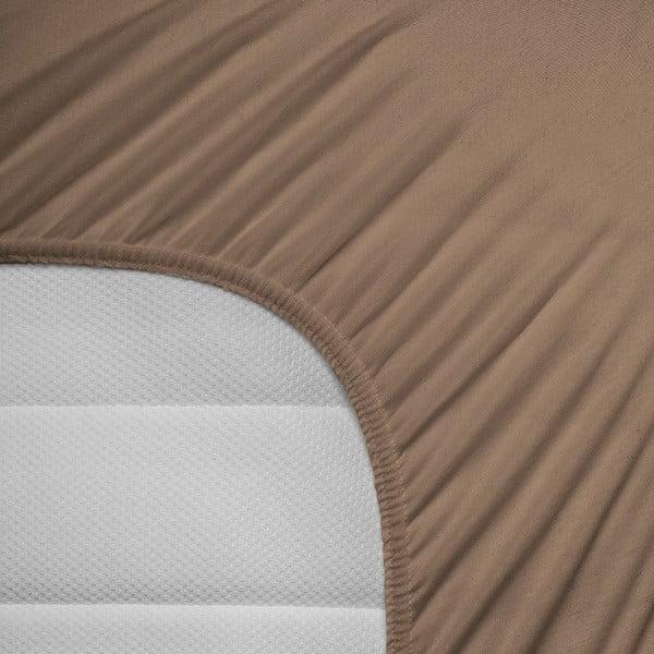 Elastické prestieradlo Hoeslaken 80-100x200 cm, hnedé