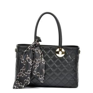 Čierna kožená kabelka Carla Ferreri Emily