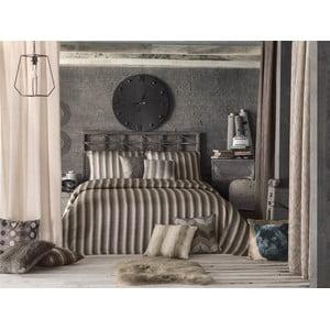 Sada prikrývky na posteľ a obliečok na vankúš Apolena Luxury, hnedá