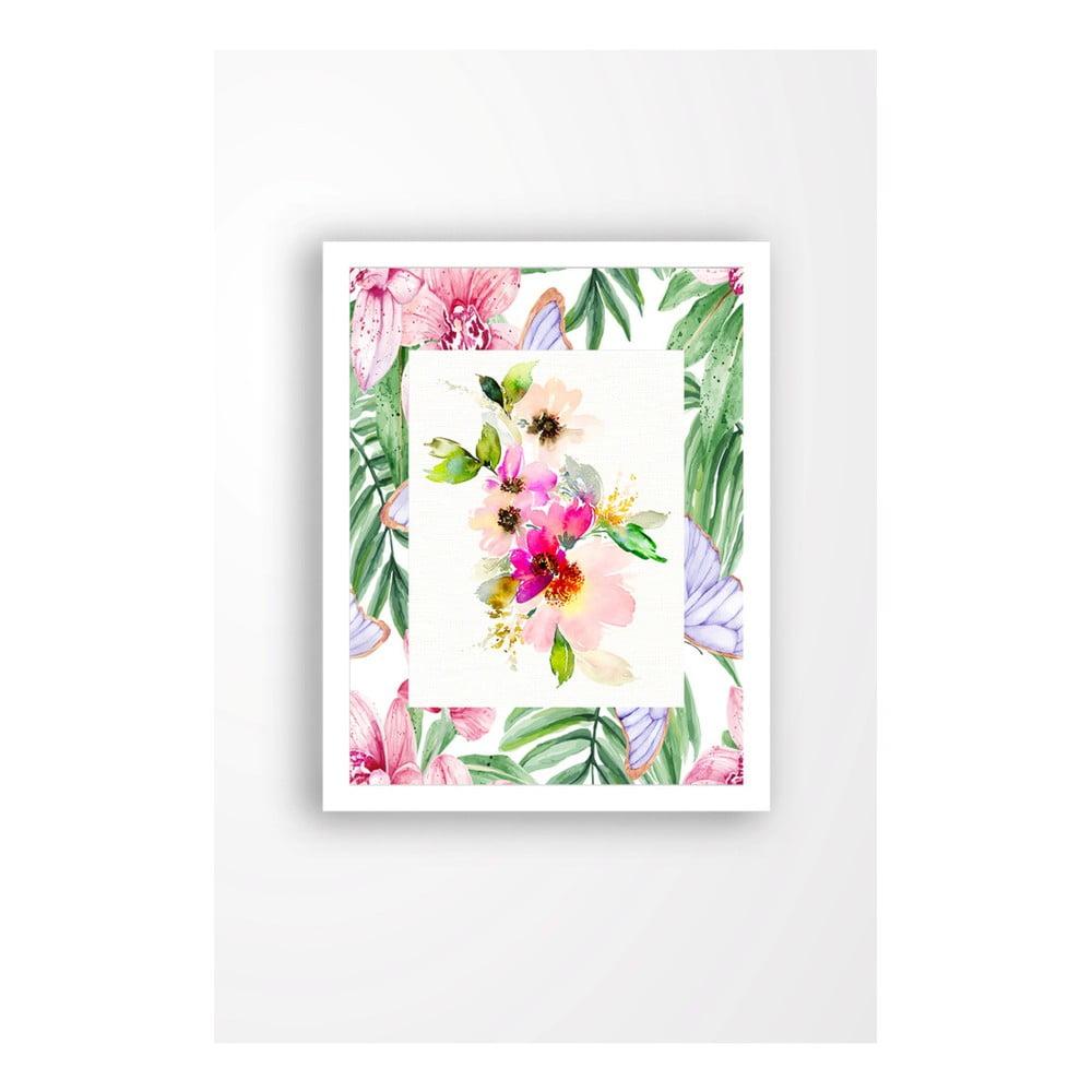 Nástenný obraz na plátne v bielom ráme Tablo Center Spring Vibes, 29 × 24 cm