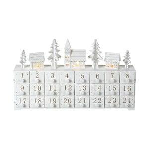 Adventný kalendár s LED osvetlením Parlane, výška 24 cm