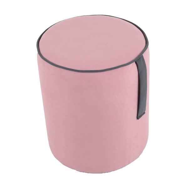 Guľatý puf Pois, ružový