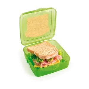 Zelený desiatový box na sendvič Snips Sandwich