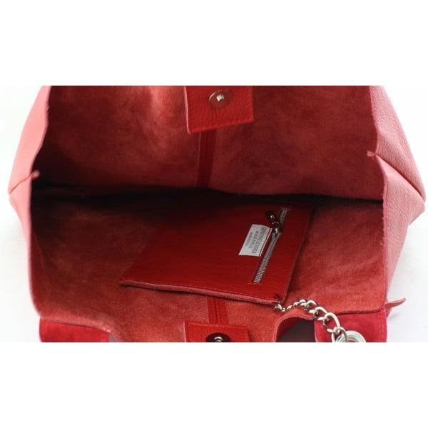 Kožená kabelka Fangi Rosso