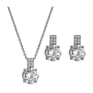 Set náhrdelníka a náušníc s krištáľmi Swarovski GemSeller White