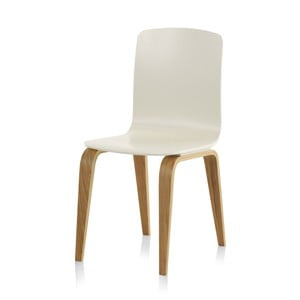Biela jedálenská stolička Geese
