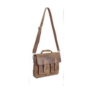 Svetlohnedá kožená taška cez rameno Packenger Colby